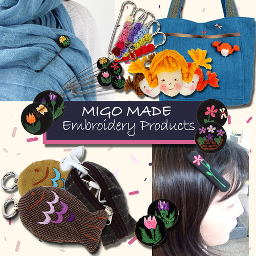 Embroidery Products key holder/ wallet/ broach/ point safety pin/ flower hair pin
