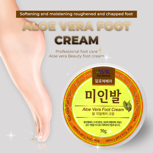 ALOE VERA FOOT CREAM / Foot / Therapy / Cream / Clinically Proven to Treat Athlete Foot / White Spot