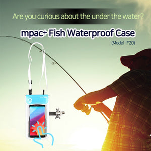 [mpac+Diver]Fish Smartphone Waterproof CaseScuba Divers/Touching/smartphone/underwater