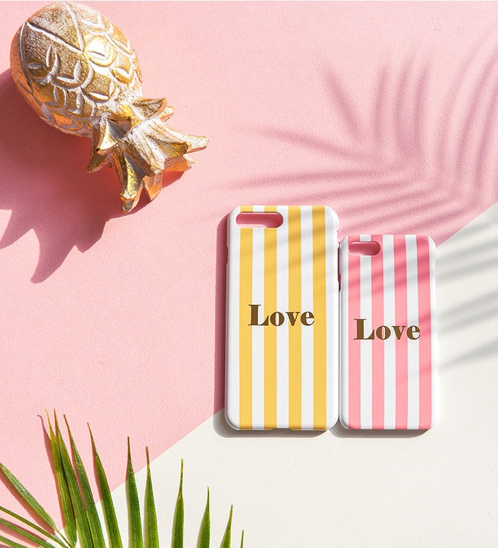 Happymori Iphone/Samsung/Galaxy/Phonecase/stripe case/korea