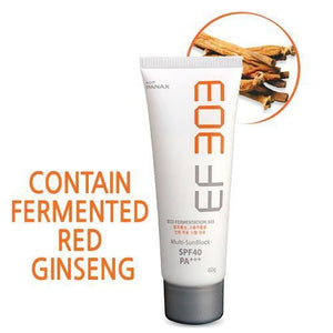 Fermented Red Ginseng Extract / EF303 Daily Multi Sunblock Cream 60g / SPF40 / PA+++