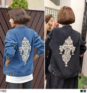 [Korea Celebrity Style] AMAI Lily Beads Jacket