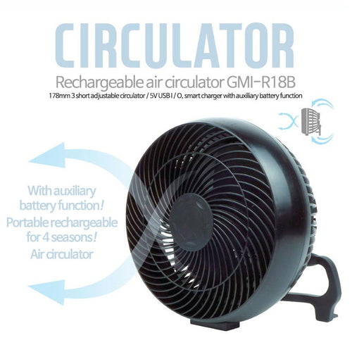 OUT GEAR rechargedable air circulator / fan / battery charging / out door