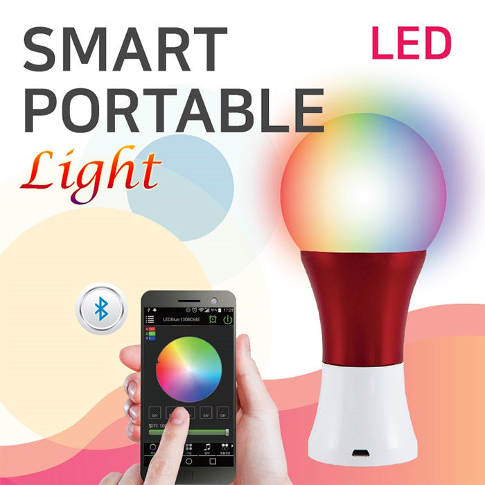 Smart Portable Light/Smart Bulb LED Light/LED/Bluetooth/16 Millions colors/Respond to music or sound