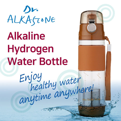 Dr. Alkastone/Alkaline Hydrogen Water Bottle/BPA free Mineral water/PH Ionizer/Filter/Water Purifier