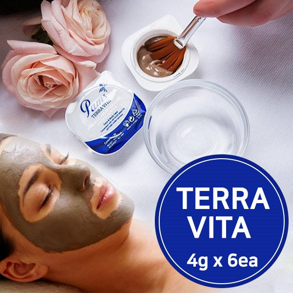 PAMS TERRA VITA/4g x 6ea/all in one/100% volcanic Mineral Powder/ available for all skin types/korea
