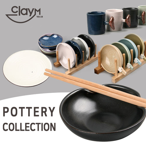 [Clay-m] Handmade/ Premium Pottery Collection/ Plates/ Bowl/ Cup/ SET/ Made in Korea