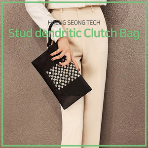 [HAENG SEONG TECH] stud dendritic clutch bag 420g/ Fashion clutch/ Bag/ Women's bag