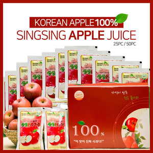 [DH KOREA] Natural apple juice Korean apple 100% 1 box/ 120ml/ 25pack/ 50pack/ Real apple juice