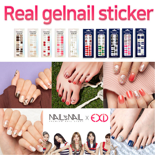 [SHMALL] EXID X Nail/ Pedicure/ Gel/ Sticker/ Summer/ Beauty/ Easy/ Nail art/ set