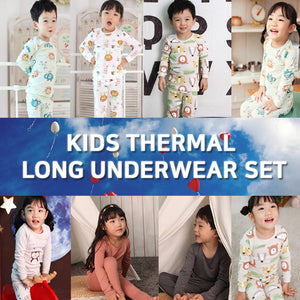 [GSAPPAREL] Kids Thermal Long Underwear Set/ Lion/ Animals/ Boy's set/ Girl's set/ Size 100~160