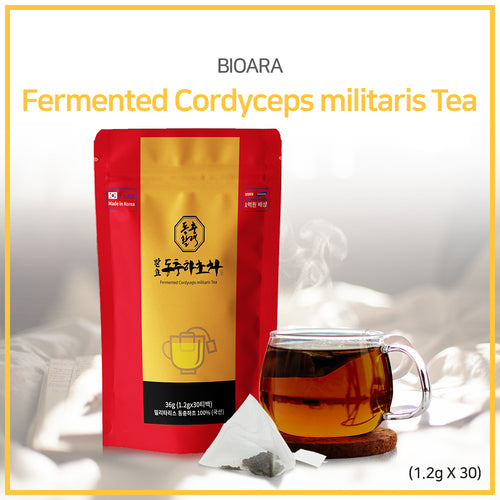 [BIOARA] Fermented Cordyceps militaris Tea 1.2g*30 Sachets/ Healthy drink/ Korean drink