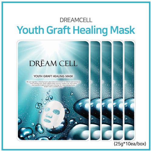 [DREAMCOS] DREAMCELL Youth Graft Healing Mask 25g*10ea/1box/Skin care/Moisture