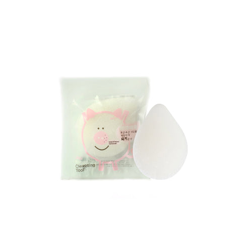 [BABAwawa factory] face cleansing pig konjac sponge waterdrop pure 30g/Soft/Clean