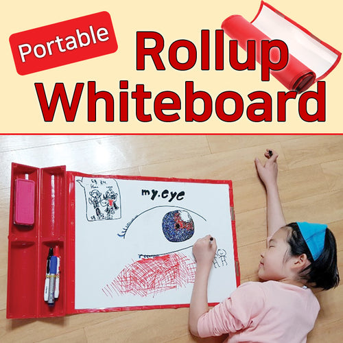 [Junoffice] Roll whiteboard set/ White Bord marker/ Black/ Red/ Blue/ For writing and marking