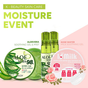 ALOEVERA MOISTURE COLLECTION / ALOEVERA/ SOOTHING MIST/ Aloe extract/ Moisture