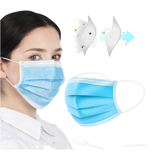 Face Masks Disposable 3 Layers Dustproof