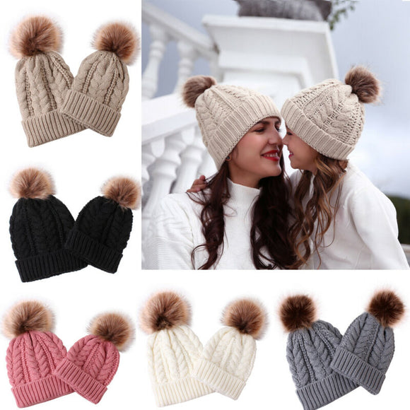 Mother& Child Matching Knit Beanie Cap