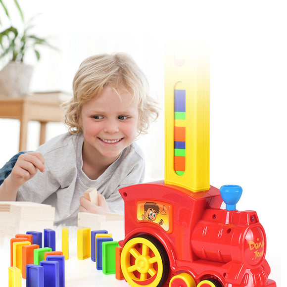 Automatic Kids Dominoes Electric Train Set