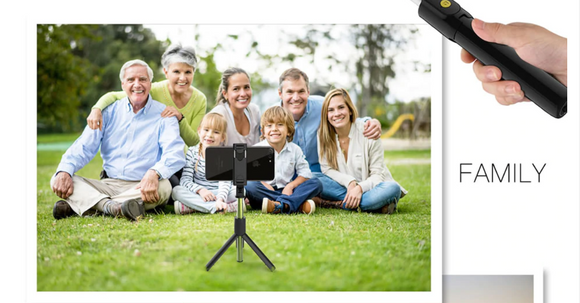 3 in 1 Wireless Bluetooth Remote Selfie Stick