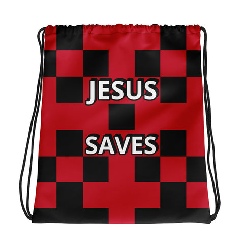 Drawstring Bag Jesus Saves