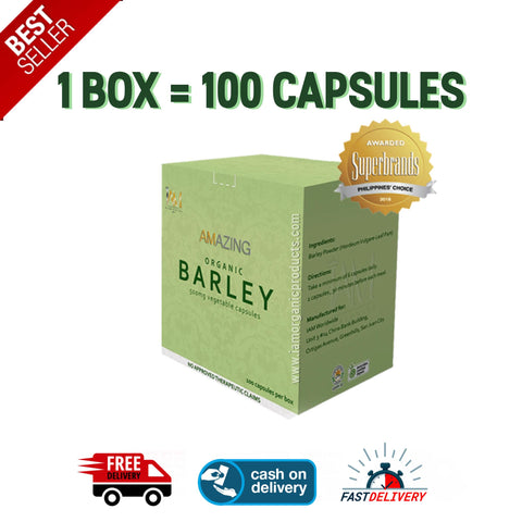 1 Box of Pure Barley Capsules (VEGETABLE CAPSULES)