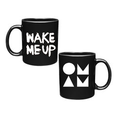 WAKE ME UP BLACK & WHITE MUG