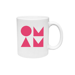 WAKE ME UP WHITE & PINK MUG