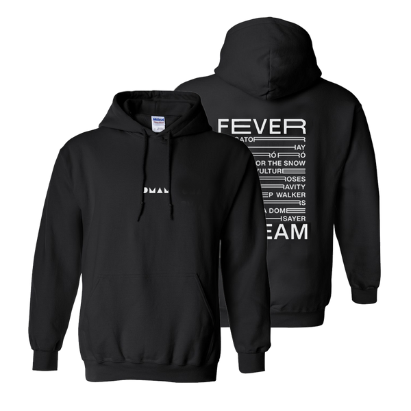 FEVER DREAM BLACK PULLOVER HOODIE