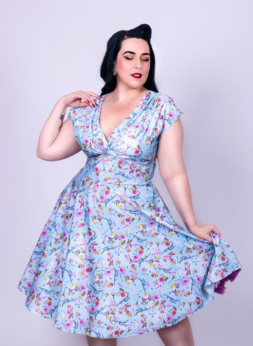 Delza Delores Style 50s Floral Swing Dress