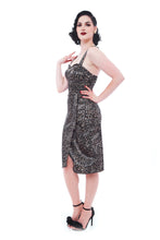 Leopard Print Multi Strap Style Dress - Curvique Vintage