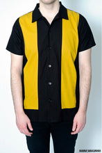Anchor Side Mustard Bowling Shirt - Curvique Vintage