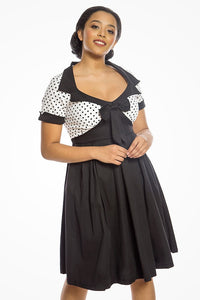 'Delilah' 1950s Rockabilly Inspired Box Pleat Cotton Swing Dress