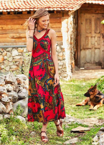 Boho Gypsy Summer Maxi Dress