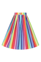 50s style Over the Rainbow Cotton Skirt - Curvique Vintage