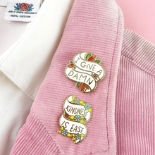 KINDNESS IS EASY LABEL PIN FROM JUBLY-UMPH - Curvique Vintage