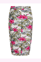 Collectif Mainline Karla Tropical Hibiscus Sarong Skirt - Curvique Vintage