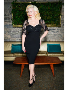 Megan Black Pencil Dress