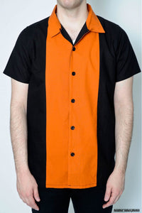 Midwest Centre Cotton Orange Bowling Shirt