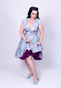 Delza Delores Style 50s Floral Swing Dress - Curvique Vintage