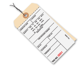 Inventory Tags 2 Part Carbonless
