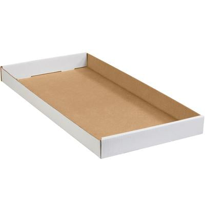 White Corrugated Trays 50-BUN-White Corrugated Trays-Lamar Packaging Supplies Inc