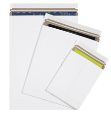 *25 Pack* White Self-Seal Flat Mailers-Lamar Packaging Supplies Inc