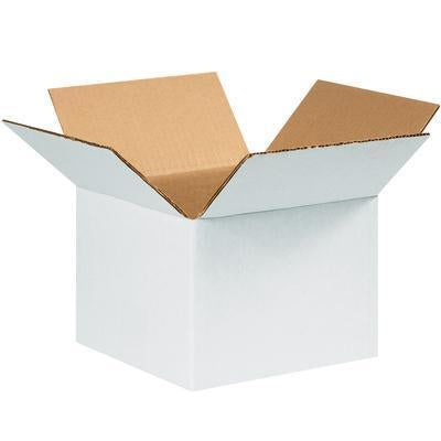 "4"" x 4"" x 4"" - thru - 11-3/4"" x 8-3/4"" x 8-3/4"" - White Corrugated Boxes, 25/bundle-White Corrugated Boxes-Lamar Packaging Supplies Inc"