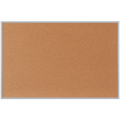 4 x 3' Cork Board with Aluminum Frame-Lamar Packaging Supplies Inc