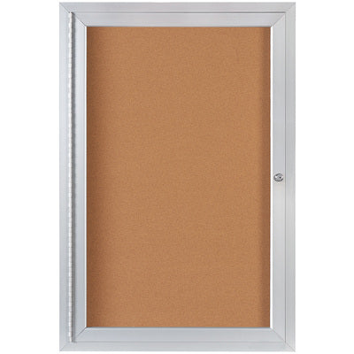 2 x 3' Enclosed Cork Board with Aluminum Frame-Lamar Packaging Supplies Inc