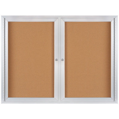 4 x 3' Enclosed Cork Board with Aluminum Frame-Lamar Packaging Supplies Inc