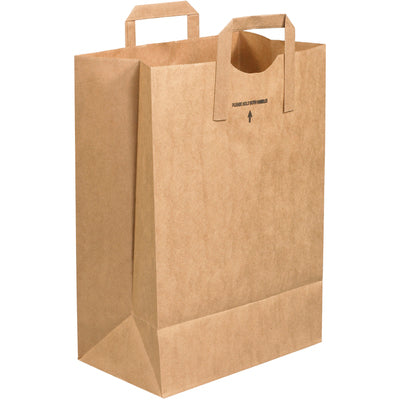 "12 x 7 x 17"" Flat Handle Grocery Bags-Grocery Bags-Lamar Packaging Supplies Inc"