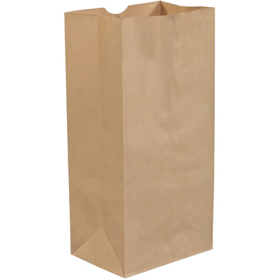"16lb. 7 3/4 x 4 3/4 x 16"" Kraft Grocery Bags-Grocery Bags-Lamar Packaging Supplies Inc"