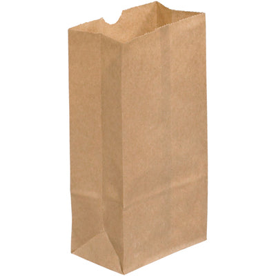 "3 x 1 7/8 x 5 7/8"" Kraft Grocery Bags-Grocery Bags-Lamar Packaging Supplies Inc"
